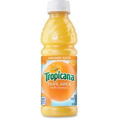 Tropicana Bottled Orange Juice - Orange Flavor - 10 fl oz (296 mL) - 24 / Carton