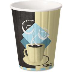 Solo Insulated Paper Hot Cups - 12 fl oz - 600 / Carton - Beige - Paper - Hot Drink, Coffee