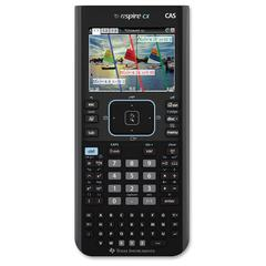 "Texas Instruments Nspire CX CAS Graphing Calculator - Backlit Display, Textbook Display, Slide-on Hard Case - 100 MB, 64 MB - ROM, Flash - 3.20"" - Battery Powered - Black - 1 Each"