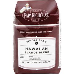PapaNicholas Coffee Hawaiian Islands Blend Coffee - Regular - Hawaiian Blend, Arabica - Light/Mild - 32 oz - 1 Each