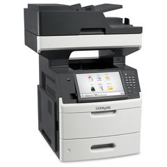 Lexmark MX711DE Laser Multifunction Printer - Monochrome - Plain Paper Print - Desktop - Copier/Fax/Printer/Scanner - 70 ppm Mono Print - 1200 x 1200 dpi Print - Automatic Duplex Print - 70 cpm Mono C