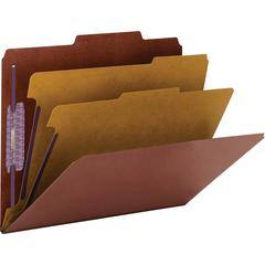 "Smead PressGuard® Classification Folders with SafeSHIELD® Coated Fastener Technology - Letter - 11 3/4"" x 10"" Sheet Size - 2"" Expansion - 6 Fastener(s) - 2"" Fastener Capacity for Folder - 2/5"