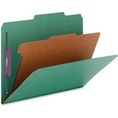 "Nature Saver 1-Divider Color Classification Folders - Legal - 8 1/2"" x 14"" Sheet Size - 2"" Fastener Capacity for Folder, 2"" Fastener Capacity, 2"" Fastener Capacity - 2/5 Tab Cut - Right of Center Tab"