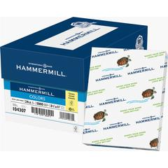 "Hammermill Colors Laser, Inkjet Print Colored Paper - Letter - 8.50"" x 11"" - 24 lb Basis Weight - Recycled - 30% Recycled Content - 96 Brightness - 500 / Ream - Canary"