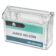 "Deflect-o Outdoor Business Card Holder - 2.8"" x 4.3"" x 1.5"" - 1 Each - Clear"