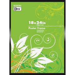 "DAX Metal Poster Frames - Holds 18"" x 24"" Insert - Shatter Proof - 1 Each - Metal, Plastic - Black"