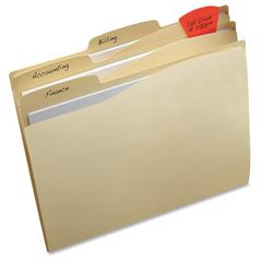 """Avery File Folder - Letter - 8.50"""" x 11"""" Sheet Size - 1/3 Tab Cut - Top Tab Location - 11 pt. Folder Thickness - Assorted - 24 / Pack"""