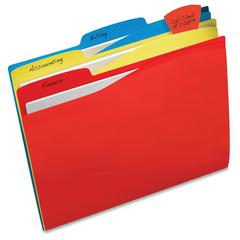 "Avery Flag File Folder - Letter - 8.50"" x 11"" Sheet Size - 1/3 Tab Cut - 11 pt. Folder Thickness - Manila - 24 / Pack"