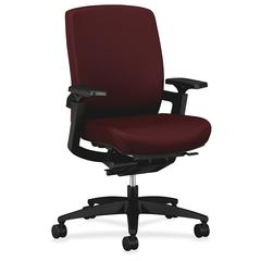 "HON F3 Ergonomic Mid-Back Work Chairs - Polyester, Fabric Seat34"" Width x 27"" Depth x 42"" Height"