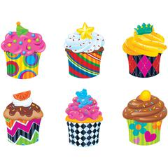 Trend Classic Accents Cupcake Variety Pack - Theme/Subject: Fun - Skill Learning: Counting, Sorting, Graphing, Creativity - 36 Pieces