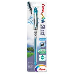 Slicci Gel Pens - Extra Fine Pen Point Type - 0.3 mm Pen Point Size - Sky Blue Gel-based Ink - 1 / Pack