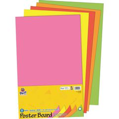 """Pacon Poster Board Package - Craft - 14"""" x 22"""" - 5 / Pack - Neon"""