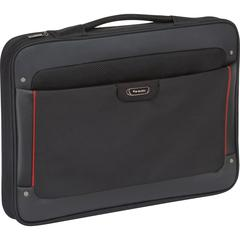 "Solo Sterling STL140-4 Carrying Case (Briefcase) for 17.3"" Notebook - Water Resistant Bottom - Vinyl, Polyester - Handle - 12"" Height x 16.5"" Width x 2"" Depth"