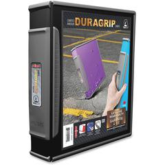 "Storex Dura Grip D-ring Black View Binders - 2"" Binder Capacity - 540 Sheet Capacity - D-Ring Fastener - Polypropylene, Rubber - Black - 1 Each"