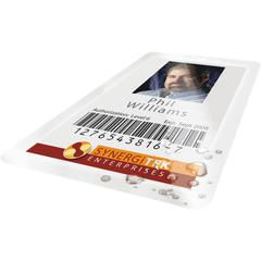 "GBC® HeatSeal® UltraClear™ Thermal Laminating Pouches - Laminating Pouch/Sheet Size: 2.56"" Width x 3.75"" Length x 7 mil Thickness - Glossy - for ID Badge, Document, Photo - Clear - 100 /"