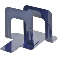 "MMF Economy Steel 5"" Bookends - 5"" Height x 5.3"" Width x 4.7"" Depth - Recycled - Blue - Steel - 2 / Pair"