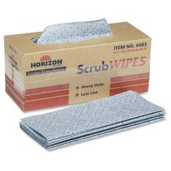 "SKILCRAFT Heavy-duty Scrub Wipes - 11.50"" x 16.50"" - Blue - Polypropylene - Absorbent, Lint-free, Durable, Reusable - 300 Sheets Per Pack - 300 / Box"
