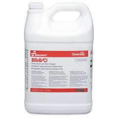 SKILCRAFT BRAVO Heavy Duty Low Odor Floor Stripper - 4 - 1 gal Bottles - Liquid Solution - 1 gal (128 fl oz) - 1 / Box - Yellow