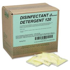 SKILCRAFT Disinfectant Detergent 120 Packets - Powder - 0.50 oz (0.03 lb) - 100 / Box - White