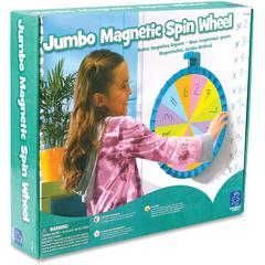 Educational Insights Jumbo Magnetic Spin Wheel - Theme/Subject: Learning - Skill Learning: Classroom Management, Mathematics - 5+