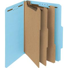 "Smead 100% Recycled Pressboard Colored Classification Folders - 3"" Folder Capacity - Legal - 8 1/2"" x 14"" Sheet Size - 3"" Expansion - 2 Fastener(s) - 2/5 Tab Cut - Right of Center Tab Location - 25 pt"