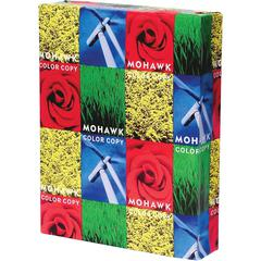 """Mohawk Copy & Multipurpose Paper - Letter - 8 1/2"""" x 11"""" - 100 lb Basis Weight - Glossy - 250 / Pack - White"""