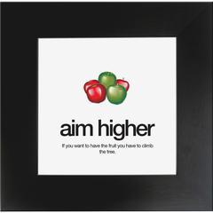 "Aurora AIM Poster - 20"" Width x 20"" Height - Black Frame - Black"
