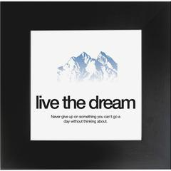 "Aurora Live the Dream Poster - 20"" Width x 20"" Height - Black Frame - Black"