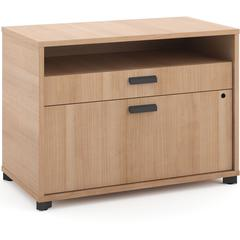 """basyx by HON Manage File Center - 30"""" x 16"""" x 22"""" - 2 x Pencil Drawer(s), File Drawer(s) - Band Edge - Material: Melamine Base - Finish: Laminate, Wheat"""
