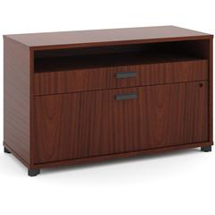 """basyx by HON Manage File Center - 36"""" x 16"""" x 22"""" - 2 x Pencil Drawer(s), File Drawer(s) - Band Edge - Finish: Chestnut, Laminate"""