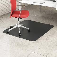 "Deflect-o Classic Black Hard Floor Chairmat - Hard Floor, Office, Carpeted Floor, Breakroom - 60"" Length x 46"" Width - Rectangle - Vinyl - Black"