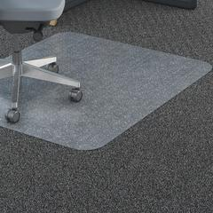 "Lorell Rectangular Straight Edge Carpet Chairmats - Carpet - 60"" Length x 46"" Width - Rectangle - Polycarbonate - Clear"