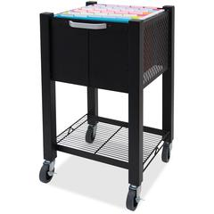 "Vertiflex InstaCart Sidekick File Cart - 4 Casters - 2.75"" Caster Size - Steel - 15.5"" Width x 13.8"" Depth x 26.3"" Height - Black"