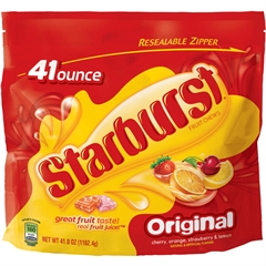 Starburst Original Fruit Chews Candy - Strawberry, Cherry, Orange, Lemon - Individually Wrapped, Resealable Zipper - 2.56 lb - 1 / Bag
