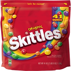 Skittles Flavia Original Fruit Candy - Orange, Lemon, Green Apple, Grape, Strawberry - 2.56 lb - 1 / Bag