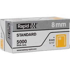"""Rapid R23 No.19 Fine Wire 5/16"""" Staples - High Capacity - 19/8 - 5/16"""" Leg - 3/8"""" Crown - for Fabric, Paper - Gray - 5000 / Box"""