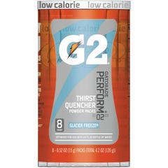 Gatorade Quaker Foods G2 Single Serve Powder - Powder - Glacier Freeze Flavor - 0.52 fl oz (15 mL) - 8 / Pack