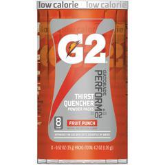 Gatorade Quaker Foods G2 Single Serve Powder - Powder - Fruit Punch Flavor - 0.52 fl oz (15 mL) - 8 / Pack