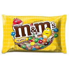 M&M's Peanut Chocolate Candies - Peanut - Resealable Zipper - 1.20 lb - 1 / Bag
