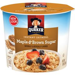 Quaker Oats Oatmeal Express Maple/Brown Sugar Cup - Microwavable - Maple, Brown Sugar - 1 - 1.69 oz - 24 / Carton
