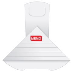 Quality Park Write-on XL Memo Deltaclip - X-Large - 15 Sheet Capacity - for Document - Reusable, Multifunctional - 50 / Box - White - Paper