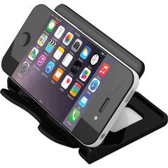 "Deflect-o Hands-free SmartPhone Device Stand - 2.8"" x 4"" x 2.8"" - 1 Each - Black"