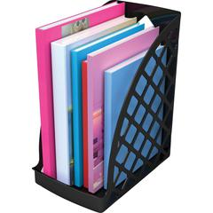 deflecto Recycled Plastic Magazine Files - Black - 1 Each