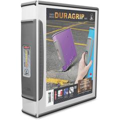 "Storex Dura Grip D-ring White View Binders - 2"" Binder Capacity - Letter - 8 1/2"" x 11"" Sheet Size - 540 Sheet Capacity - D-Ring Fastener - Internal Pocket(s) - Polypropylene, Rubber - White - 1 Each"