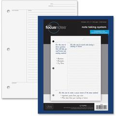 """TOPS FocusNotes Filler Paper - Letter - 100 Sheets - Plain - 3-ring Binding - 20 lb Basis Weight - 8 1/2"""" x 11"""" - White Paper - Repositionable - 100 / Pack"""