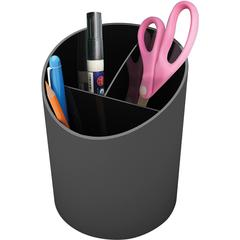 "Deflect-o Large Pencil Cup - 5.6"" x 4.4"" - 1 Each - Black"