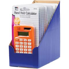 CLI 8-digit Hand Held Calculator - Dual Power, Non-slip Rubber Key - 8 Digits - Battery Powered - Assorted - 12 / Display Box