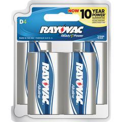 Rayovac 813-4F Mercury Free Alkaline Batteries, D 4 pk - D - Alkaline - 1.5 V DC - 4 / Pack