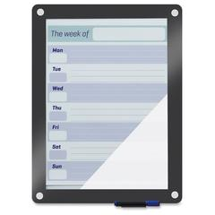 Iceberg Custom Print Glass Dry Erase Board - Glass Surface - White Back - Gray Frame - Assembly Required - 1 Each