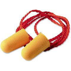 3M 1110 Corded Foam Earplugs - Noise Protection - Polyurethane - Orange - 100 / Box